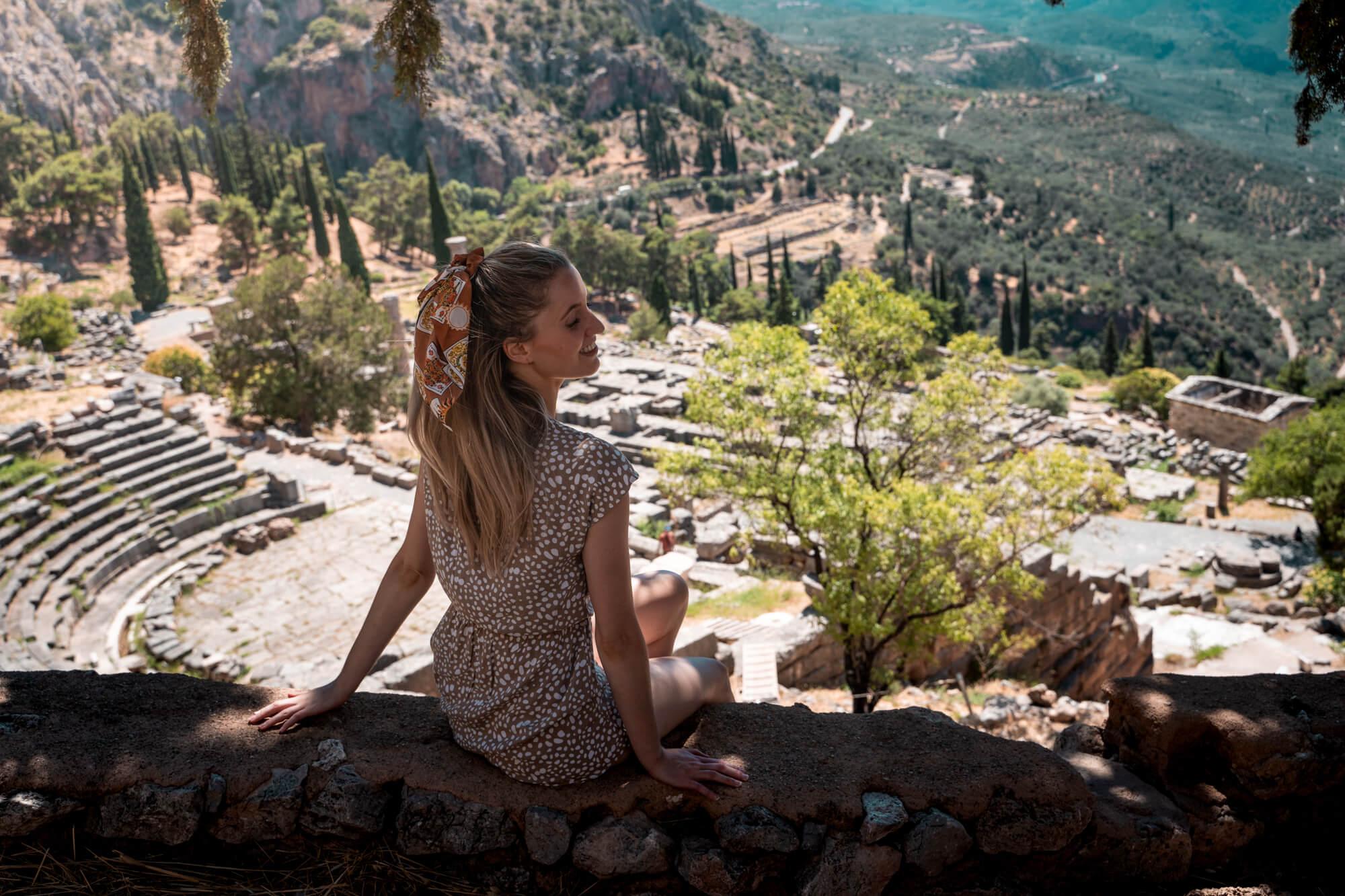 Ruïnes in Delphi vasteland Griekenland